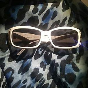 Fossil sunglasses white with rhinestones